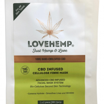 CBD Cosmetic Face Mask.